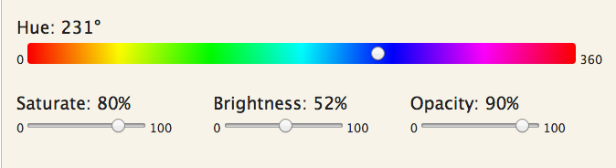 Edit the Hue, Saturation, Brightness, and Opacity of the graphic in Hero on your JAMSpiritSites cheer website.