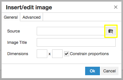 Within the content editor of your JAMSpiritSites competitive gym website select the image you want to insert.